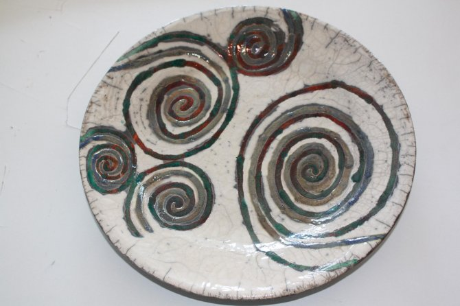 Round dish decorated - Bed & Breakfast diSpineto